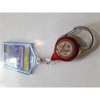Custom Yoyo Retractable ID Card Badge Reel - Triangle Pull [Transparent]